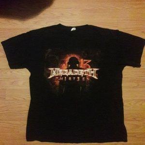 Megadeth 13 thirteen metal rock t shirt